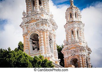 Church at puebla, mexico