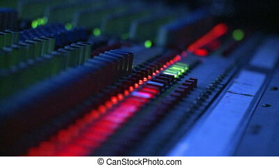 Mixing Board Buttons - Floating close up on the button...