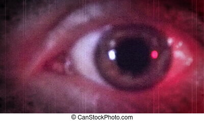 Creepy Eye Blue and Red Ambulance lights