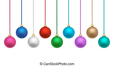 Colorful Christmas balls - Colorful christmas balls hanging