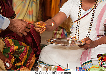 Hindu Wedding Ceremony - A traditional wedding ceremony in...
