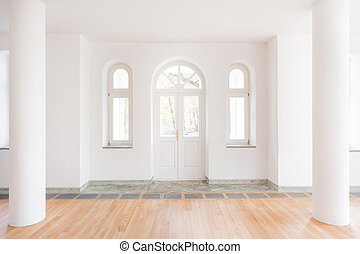 Classic entrance hall - Design of classic entrance hall with...