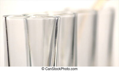 Four Shot Glasses Tops - Extreme close up ECU of the top...