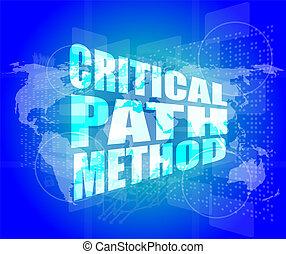 critico, percorso, metodo, parole, su, digitale, schermo,...