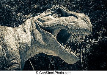 realista, modelo, de, Dinosaurio, Tyrannosaurus, Rex,