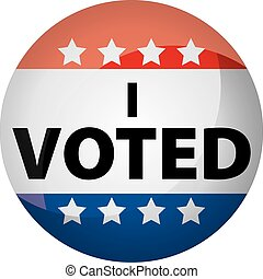I voted button or graphic with red, white, blue, and stars