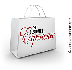 Customer Experience Shopping Bag Words Buyer Shopper Client...