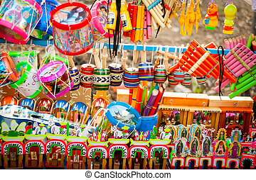 Set of traditional mexican toys