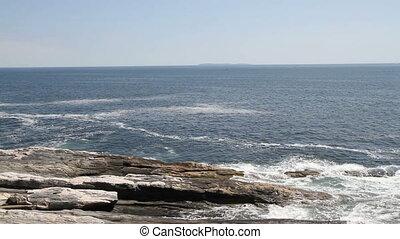 Maine USA Shore Line