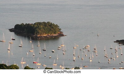Maine Sail boats Scenic View