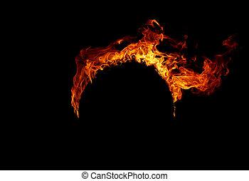 brûler, flames, ,
