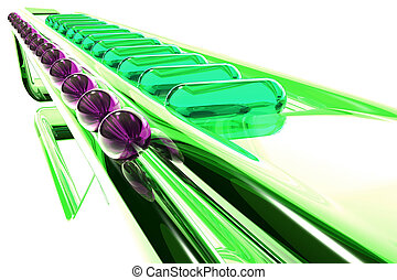 green futuristic glass abstraction
