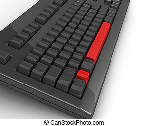 keyboard with exclamation mark