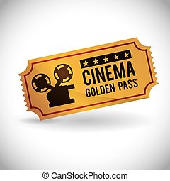 cinema design - cinema graphic design , vector illustration