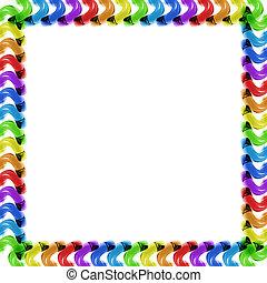 rainbow glass frame