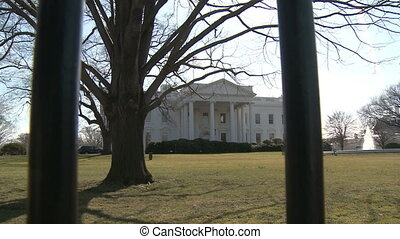 US White House Behind the Fence - Looking across the North...
