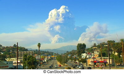 California Wildfire Time-lapse Comp - A composite between...