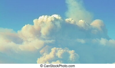 California Wildfire Smoke - Time-lapse of the billowing...