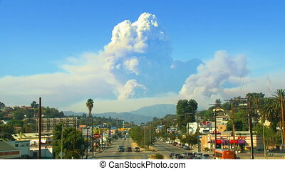 California Wildfire Time-lapse - Time-lapse view from the...