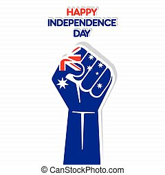 Independence Day of australia, Flag of Pakistan hand design...