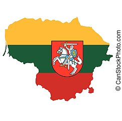 Lithuania Flag - Flag and coat of arms of the Republic of...