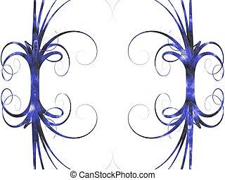 blue frame. curve background