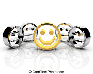 gold smiley leadership concept