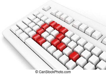 keyboard with question-mark