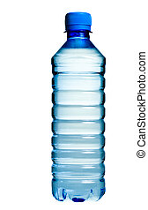 Bottled water - PET bottle with drinking water isolated on...