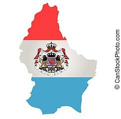 Luxemburgo, bandeira,