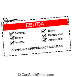 EBITDA Red Coupon Concept with great terms such as earnings,...