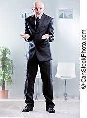 my hands are empty what can I do - business man showing off...