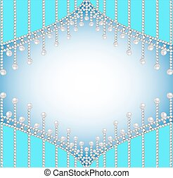 background with precious stones and pearls - Illustration...