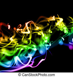 bright colorful wavy smooth neon background in perspective