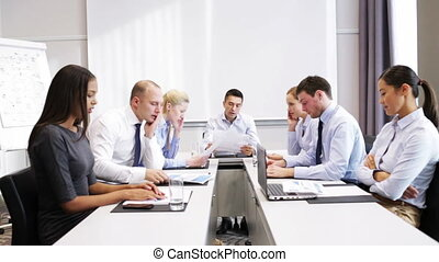 business people meeting in office - business, teamwork,...