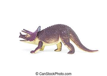 Triceratops, Dinosaurio, juguete,