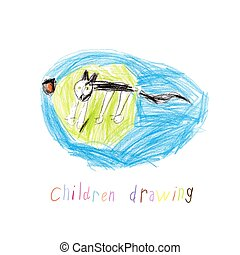 Child Drawing Of Cat