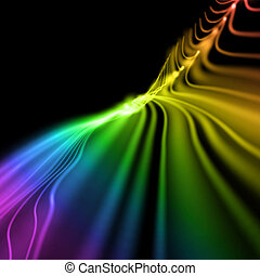 bright colorful wavy smooth background