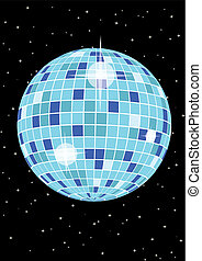 Disco Ball - Flyer with disco ball for your party or fest.