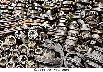 Rusty metal gears