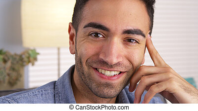 Mexican man smiling