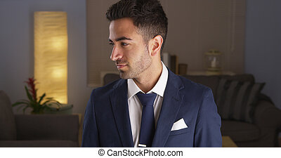 Mexican man in a suit