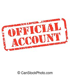 Official account red stamp text on white