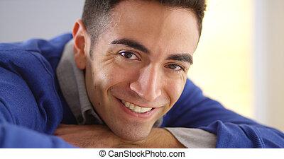 Puerto Rican man looking at camera