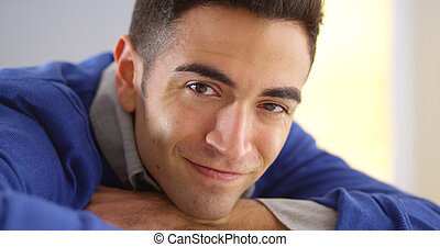 Happy Mexican man smiling
