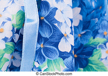 Floral pattern on cloth.