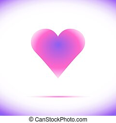 Heart Icon Vector with Four Color