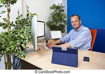 Green paperless office