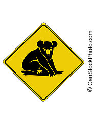 Koala road sign from australia