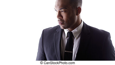 Handsome black man wearing suit